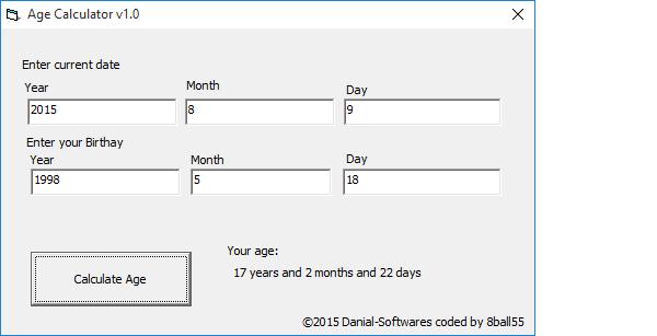 How to make Visual Basic Age Calculator App