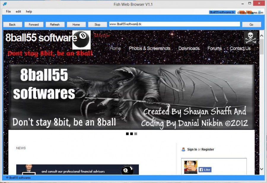 Fish Web Browser V1.1
